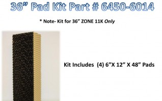 36″ Zone Pad Kit – 48″ x 12″ x 6″ 6450-6014
